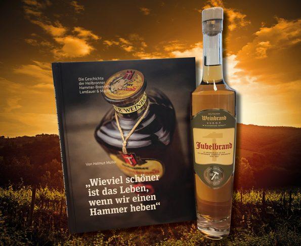 Geschenkset Buch + Weinbrand